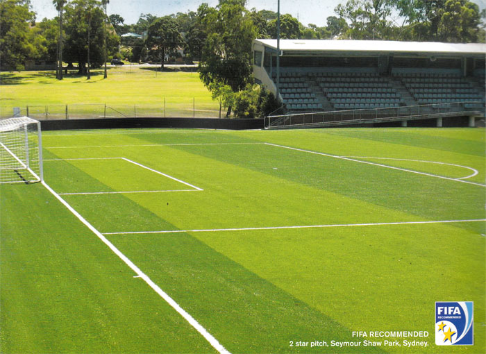 2 Star FIFA Soccer Field Pitch at Seymour Shaw Park, Sydney by Tiger Turf Synthetic Turf.