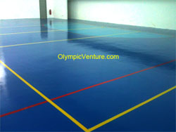 10mm Olymflex Seamless rubberized multipurpose hall at Tenby International School, Johor.