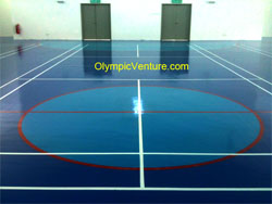 Olymflex Seamless Fiber Reinforced PU Membrane Rubberized Floor for Multipurpose Hall at Tenby International School in Johor.