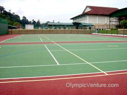 Another View of 4 tennis courts using Plexipave coating in Alice Smith Secondary School, Seri Kembangan, KL