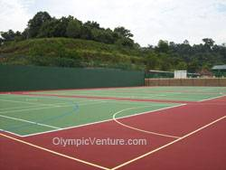 4 tennis courts using Plexipave coating in Alice Smith Secondary School, Seri Kembangan, KL