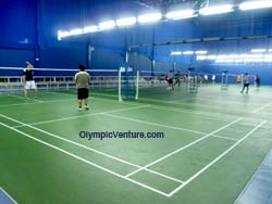 another view of 17 Olymflex Rubberized Badminton courts in Dato' Lee Chong Wei Arena / Sports Arena Sentosa, Old Klang Road