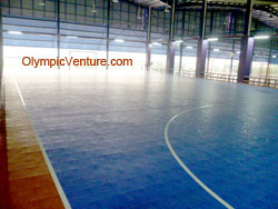 3 modular interlocking Techtiles for 3 futsal courts in Old Klang Road