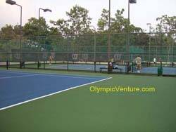 another view of 3 rubberized cushion tennis courts for Kota Permai Golf and Country Club
