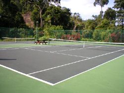 tennis courts in Langkawi's golf resort