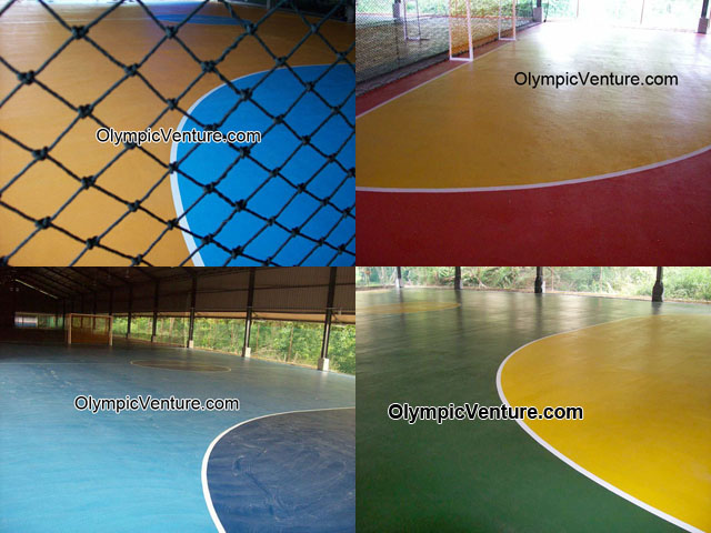4 Olymflex seamless rubberized futsal courts