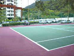 tennis court hill view