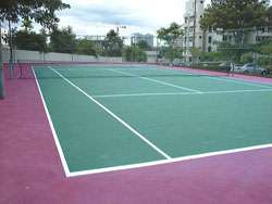 tennis court in penang's condominium
