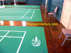 BWF Certified PVC Mat for 3 Badminton Courts at Taman Tasik Cyberjaya.
