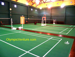 Badminton World Federaion Certified PVC Mat for 3 Badminton Courts at Taman Tasik Cyberjaya.
