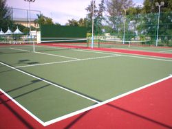 Another view of Two Tennis courts for Penang Intel.
