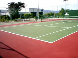 Two Tennis courts for Penang Intel.